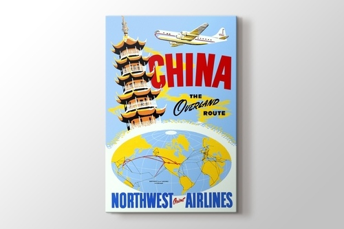 China Vintage Havayolu Posteri görseli.