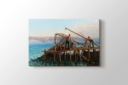 Fishermen Bringing in the Catch görseli.