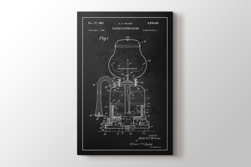 Vacuum Coffee Maker Patent görseli.