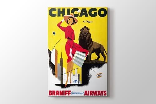Chicago Vintage Havayolu Posteri görseli.