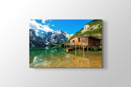 Lago di Braies - Dolomiti Mountains - Italy görseli.