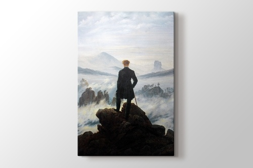 Wanderer above the sea of fog görseli.