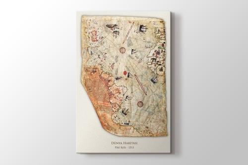 Piri Reis - Dünya Haritası 1513 görseli.