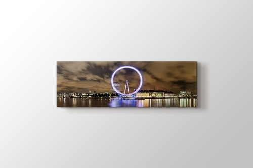 Wide Panorama of London Eye and River Thames görseli.