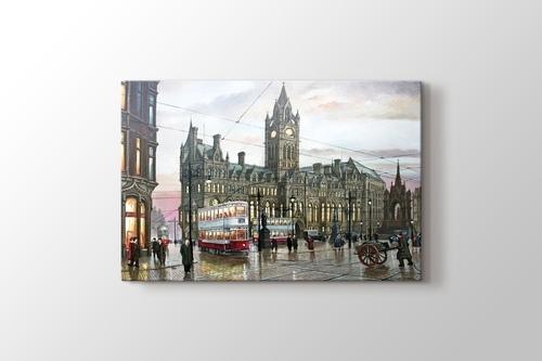 Albert Square Manchester 1935 görseli.