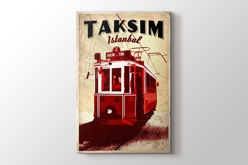 Taksimde Tramvay görseli.