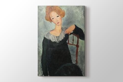 Amedeo Modigliani - Woman with Red Hair görseli.