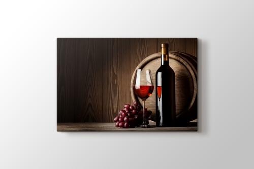 Kırmızı Şarap ve Üzüm görseli.
