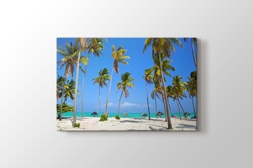 Tropical Palm and Sand Beach görseli.