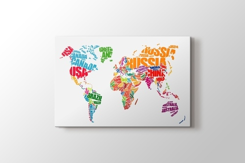 World Map Typography görseli.