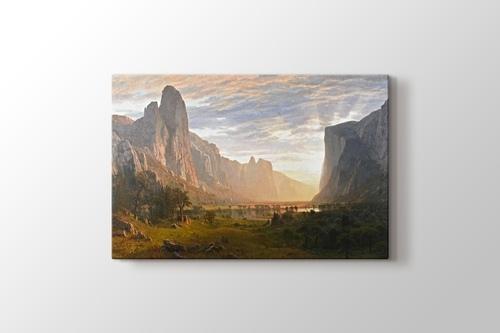 Looking Down Yosemite Valley California 1865 görseli.