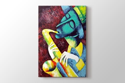 Saksafon sanatçısı görseli.