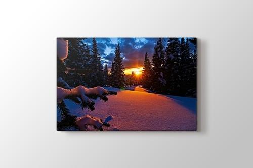 Colorado - Sunset and Snowy Mountain görseli.