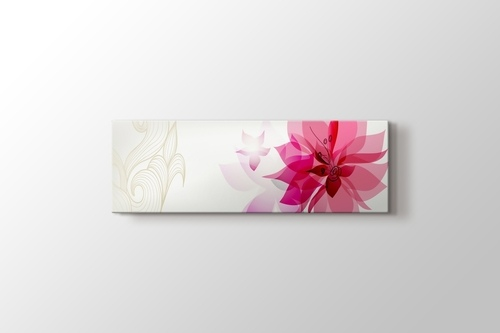 Pembe Retro Çiçekler görseli.