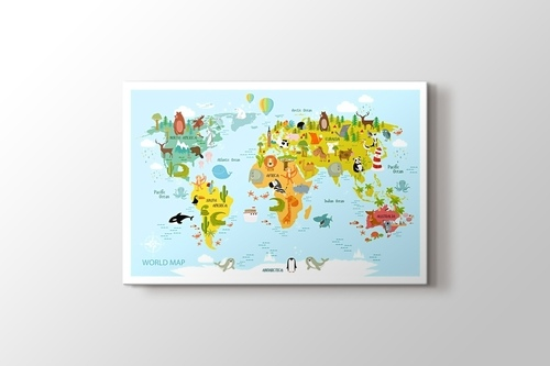 Baby World Map & Animals görseli.