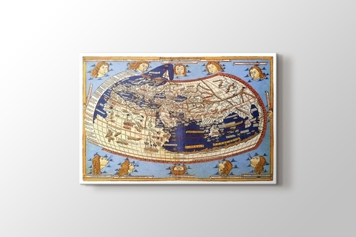 Claudius Ptolemy The World Map 1482 görseli.