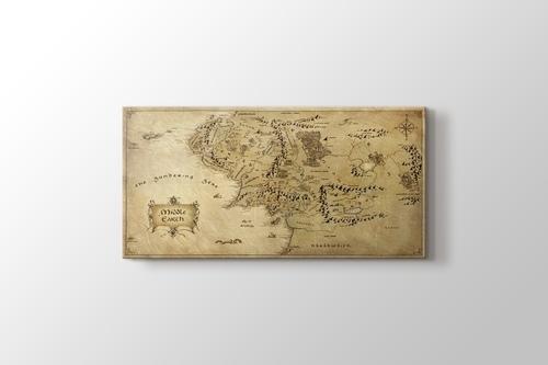 Orta Dünya Haritası görseli.