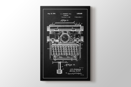 Typewriter Sweeney Patent görseli.