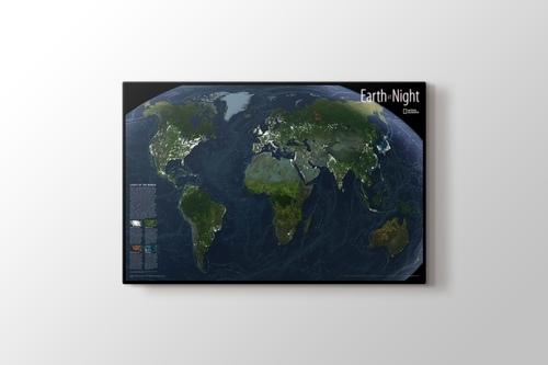 Dünya Gece Görünüş Haritası görseli.