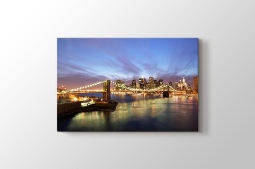 City Skyline and Brooklyn Bridge görseli.