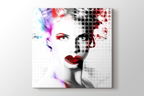 Popart Woman Portrait görseli.