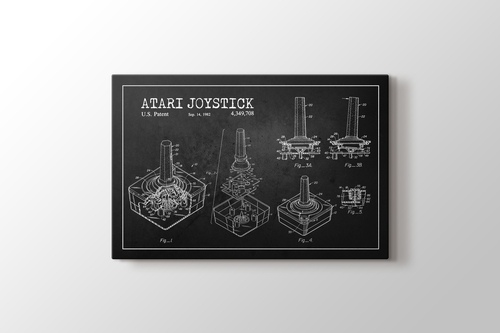 Atari Joystick Patent görseli.