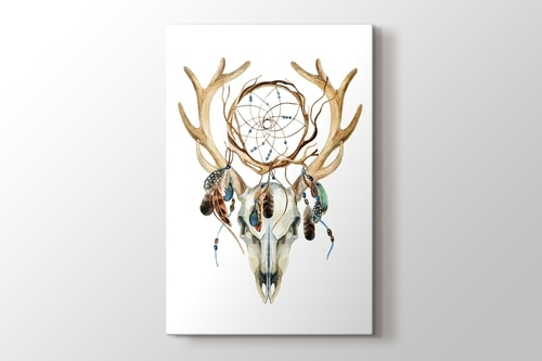 Deer Skull with Dreamcatcher görseli.