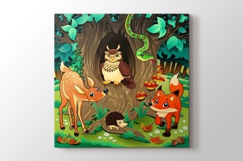 Ormandaki Hayvanlar görseli.