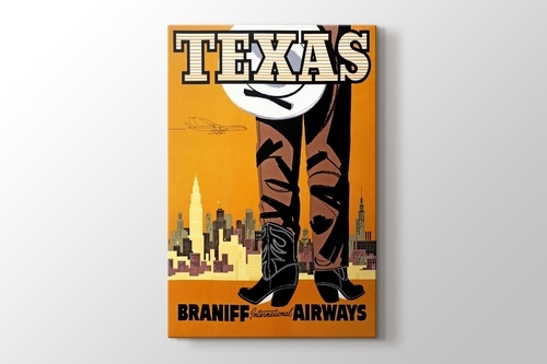 Texas Vintage Havayolu Posteri görseli.