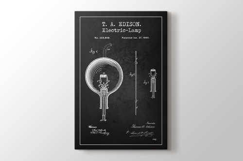 Thomas Edison Electric Lamp Patent görseli.
