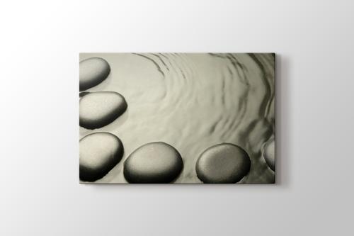 Su içinde taşlar görseli.