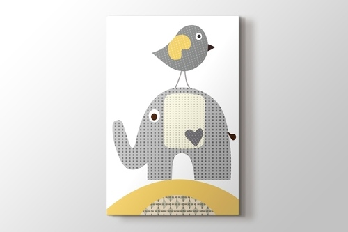 Kuş ve Fil görseli.