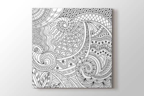 Soyut yıldızlı mandala tablo görseli.