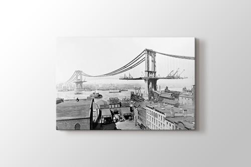 Manhattan Köprüsü 1909 görseli.