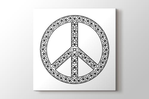 Barış sembolü boyama tablo görseli.
