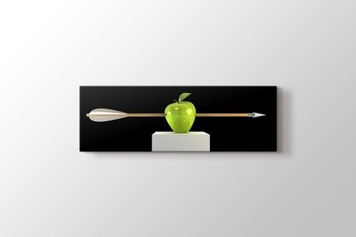 Yeşil Elma ve Ok görseli.