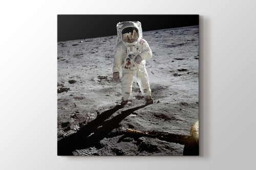 Buzz Aldrin on the Moon görseli.