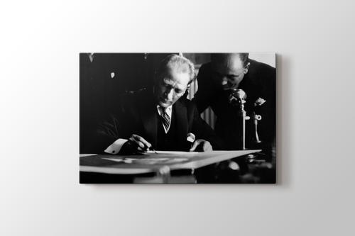 Mustafa Kemal - İş Bankası Ziyareti görseli.