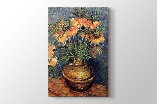 Still Life Vase with Fifteen Sunflowers görseli.