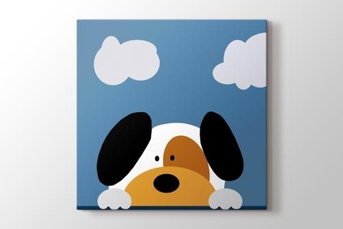 Sevimli Köpek ve Bulutlar görseli.