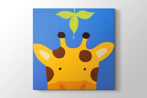 Sevimli zürafa görseli.