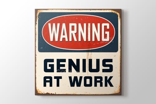Warning Genius at Work görseli.